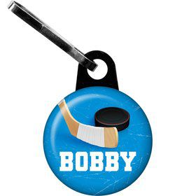 Hockey Party Personalized Zipper Pull (each)