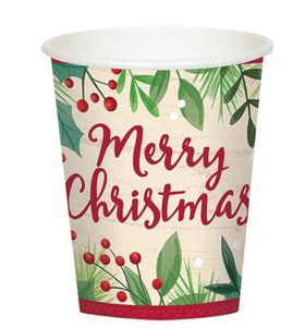 Holiday 9oz Paper Cups (8)