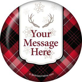 Holiday Plaid Personalized Magnet (Each)