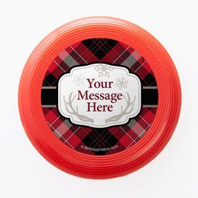 Holiday Plaid Personalized Mini Discs (Set of 12)