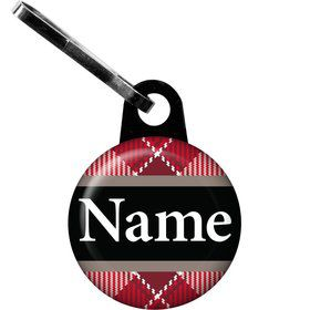 Holiday Plaid Personalized Zipper Pull (Each)