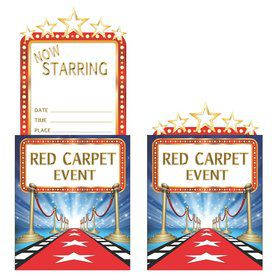 Hollywood Lights Invitations (8 Count)