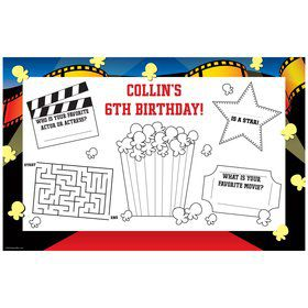 Hollywood Personalized Activity Mat (8 pack)
