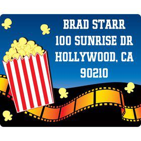 Hollywood Personalized Address Labels (sheet of 15)