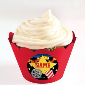 Hollywood Personalized Cupcake Wrappers (Set of 24)