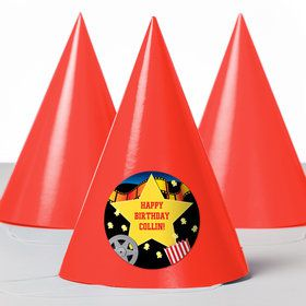 Hollywood Personalized Party Hats (8 Count)