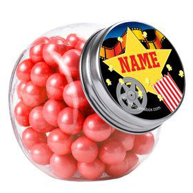 Hollywood Personalized Plain Glass Jars (10 Count)