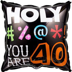Holy Bleep 40Th Birthday Metallic Balloon (Each)
