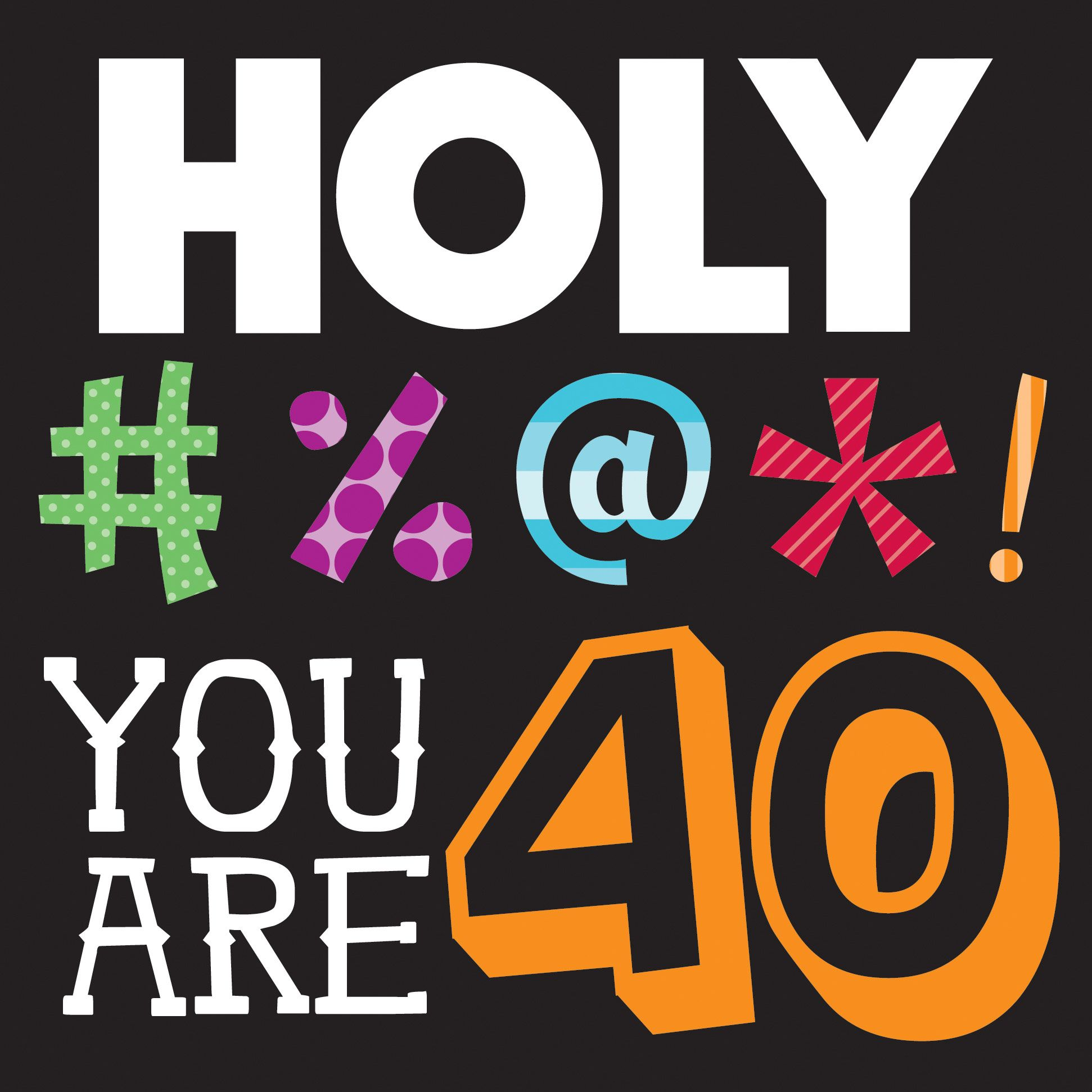 Holy Bleep 40th Birthday Napkins (16 Count) - Party Supplies