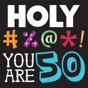 Holy Bleep 50Th Birthday Luncheon Napkins (16 Count)