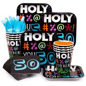 Holy Bleep 50Th Birthday Standard Tableware Kit