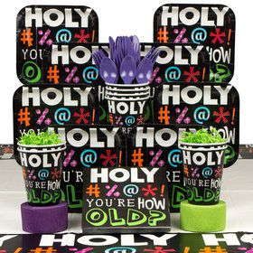 Holy Bleep Birthday Party Birthday Party Deluxe Tableware Kit Serves 8