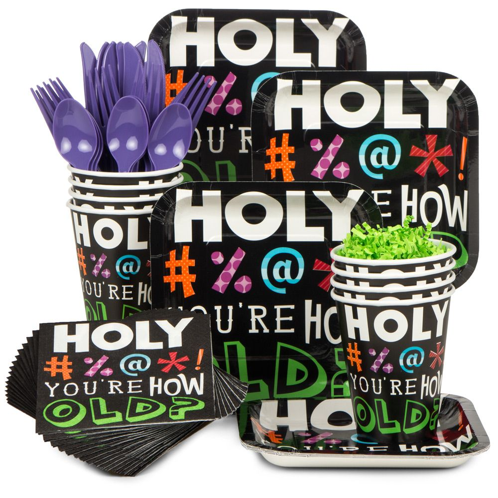 Holy Bleep Birthday Party Supplies Tableware Kit Serves 8 BBKIT842