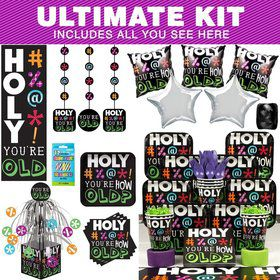 Holy Bleep Birthday Party Ultimate Tableware Kit Serves 8