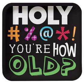 Holy Bleep Cake Plates (8 Pack)