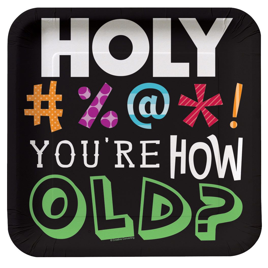 HOLY BLEEP DINNER Plate (8 Pack) Birthday Party Supplies Plates