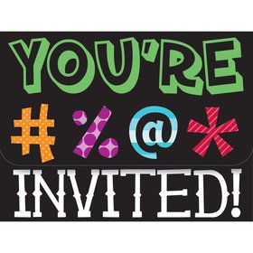 Holy Bleep Invitations (8 Pack)