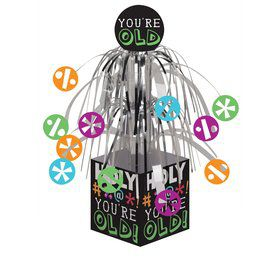 Holy Bleep Mini Foil Centerpiece With Base