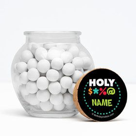 """Holy Bleep Personalized 3"""" Glass Sphere Jars (Set of 12)"""
