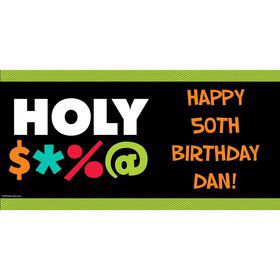 "Holy Bleep Personalized Banner 60""x30"" (Each)"