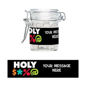 Holy Bleep Personalized Glass Apothecary Jars (10 Count)S
