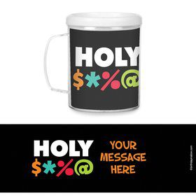 Holy Bleep Plastic Personalized Favor Mugs (Each)