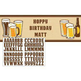 Hoppy Birthday Personalizable Giant Party Banner