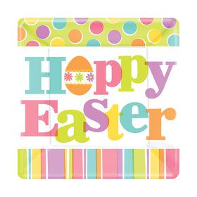 Hoppy Easter Square Dessert Plate (18)