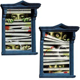 Horror Eyes Window Decorations (2 Count)