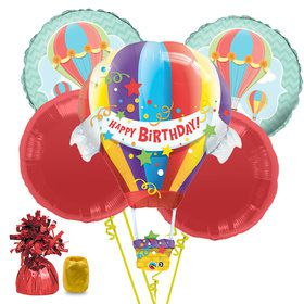 Hot Air Balloon Birthday Balloon Bouquet Kit