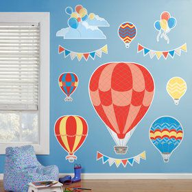 Hot Air Balloon Party Giant Wall Decals