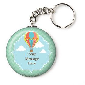 "Hot Air Balloon Personalized 2.25"" Key Chain (Each)"