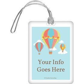 Hot Air Balloon Personalized Bag Tag (Each)