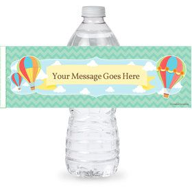 Hot Air Balloon Personalized Bottle Label (Sheet of 4)