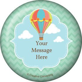 Hot Air Balloon Personalized Button (Each)