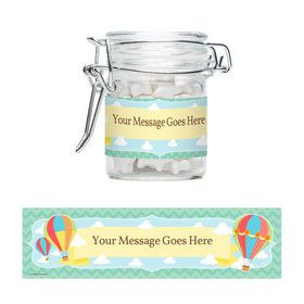 Hot Air Balloon Personalized Glass Apothecary Jars (10 Count)
