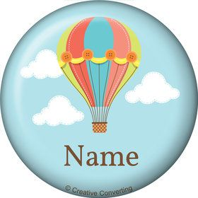 Hot Air Balloon Personalized Mini Button (Each)