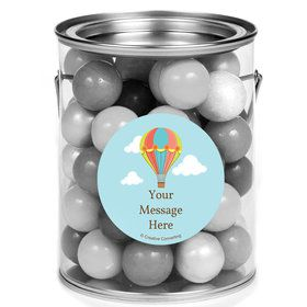 Hot Air Balloon Personalized Mini Paint Cans (12 Count)