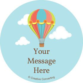 Hot Air Balloon Personalized Mini Stickers (Sheet of 24)