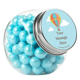 Hot Air Balloon Personalized Plain Glass Jars (12 Count)