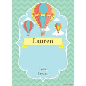 Hot Air Balloon Personalized Thank You (Each)
