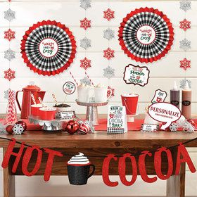 Hot Cocoa Buffet Deluxe Decorating Kit