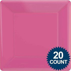 "Hot Pink 10"" Dinner Paper Plates (20 Pack)"
