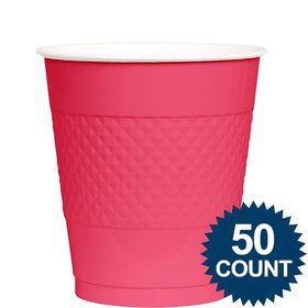 Hot Pink 12oz. Plastic Cup (50 Pack)
