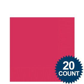 Hot Pink 3-Ply Beverage Napkins, 20 ct.