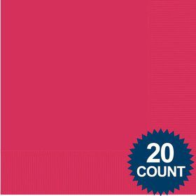 Hot Pink 3-Ply Luncheon Napkins, 20 ct.