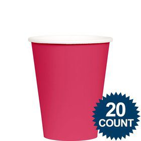 Hot Pink 9 oz. Paper Cups, 20 ct.