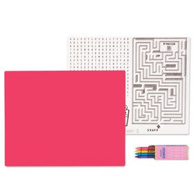 Hot Pink Activity Placemat Kit for 4