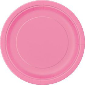 Hot Pink Cake Plates (20 Count)
