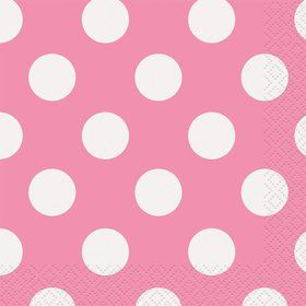 Hot Pink Dots Beverage Napkins (16 Count)